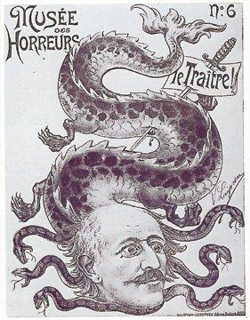 Anti-semitic poster relating to the Dreyfus Affair.