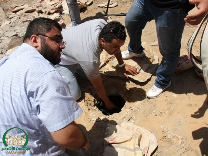 "JAFFA, Israel. During a restoration project at the historic Al-Kazakhana cemetery workers discovered ""nozzles"" leading to the mass graves with hundreds of skeletons of Palestinians killed during the Nakba and 1936 uprising."