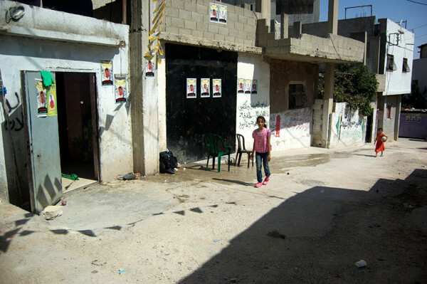 The home of Jihad Aslan, one of three Palestinians killed in Qalandia refugee camp.
