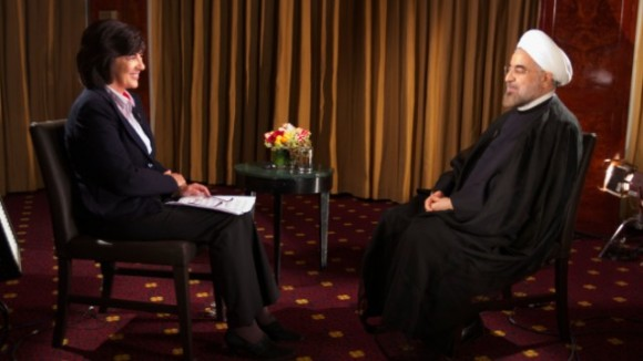 Christiane Amanpour and Hassan Rouhani (Photo: CNN)