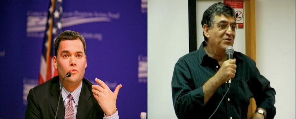 Peter Beinart (left) and Yehouda Shenhav (right).