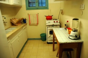 Kitchen of David Ben-Gurion in his Negev desert home, Sde Boker. (Photo: Allison Deger)