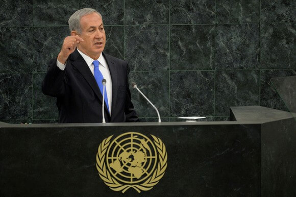 Israeli PM Benjamin Netanyahu speaking to the UN General Assembly. (Photo: Prime Minister of Israel/Flickr)