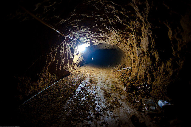 An empty smuggling tunnels in Rafah, Gaza. (Photo: Marius Arnesen)