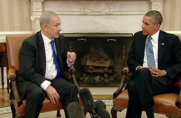Netanyahu lecturing Obama