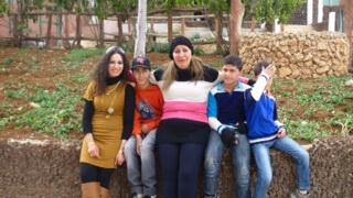 Sundus Shaker Saleh with her family. (Photo: Codepink)