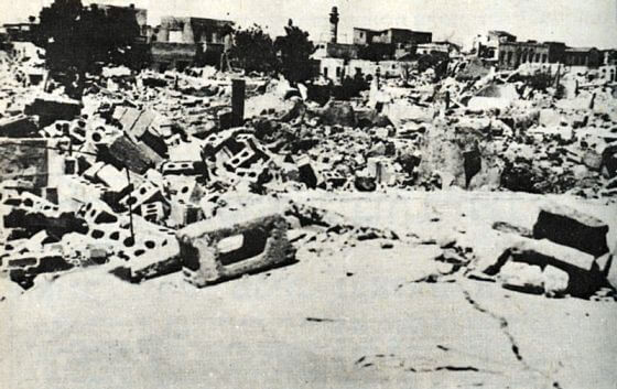 Ruins of Lydda in 1948