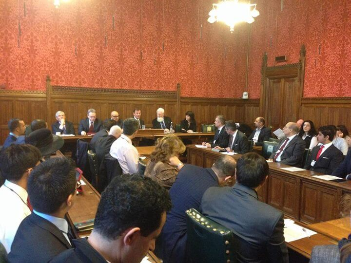 Jack Straw (l) and Einat Wilf (r) at roundtable, from Wilf's Facebook page