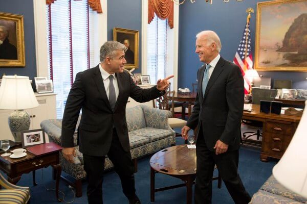 Yair Lapid with Joe Biden, photo tweeted by the veep