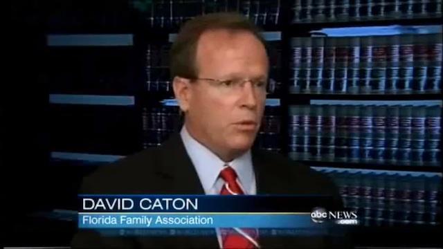 David Caton, the head of the Florida Family Association. (Screenshot via IslamophobiaToday.com)