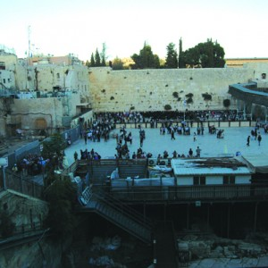 Overlooking the Western Wall and the Dome of the Rock, Jerusalem. (Photo: Allison Deger)