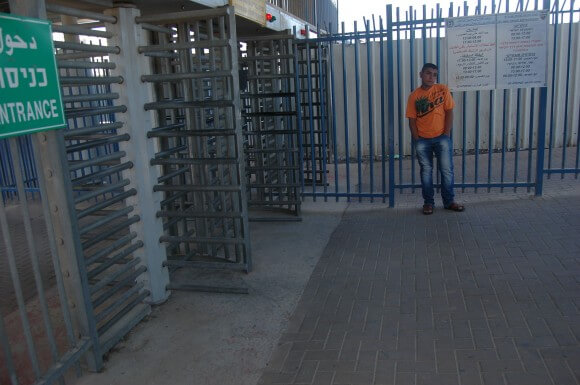A-Zeitim checkpoint in East Jerusalem, between the neighborhoods of Abu Dis and At-Tur. (Photo: Allison Deger)