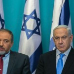Lieberman and Netanyahu at a press conference, November, 2012. (Photo:  Olivier Fitoussi)