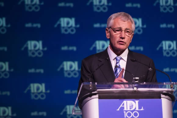 Chuck Hagel at the ADL