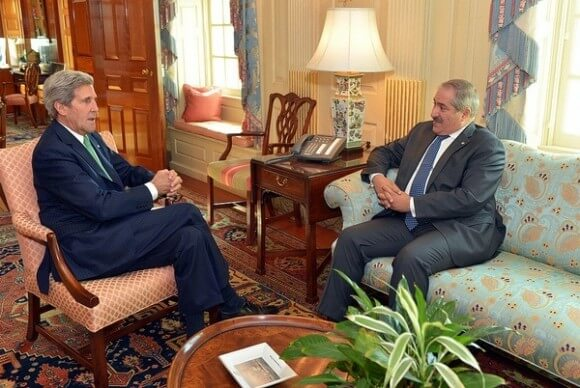 Kerry meeting at the State Department last month with Nasser Judeh, Foreign Minister of Jordan