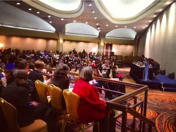 Full room at the American Studies Association Conference's Town Hall Meeting on #Palestine. (Photo: Lena Ibrahim)