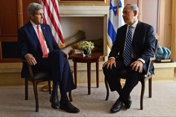 Netanyahu and Kerry in Jerusalem this morning