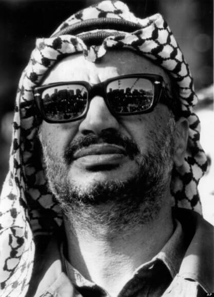 Undated photograph of Yasser Arafat in Gaza, made available by the Palestinian Authority.  (AP Photo/Palestinian Authority)