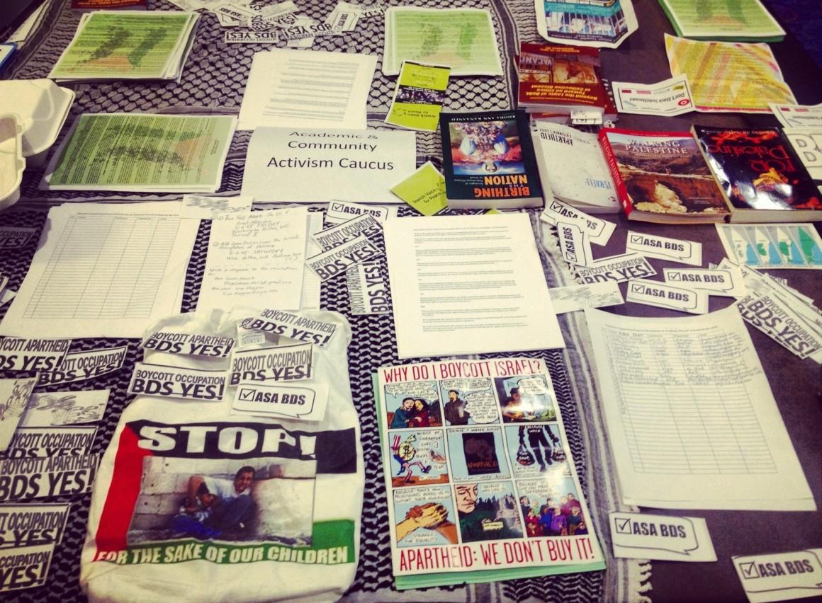 ASA Activism Caucus table. (Photo: Lena Ibrahim)