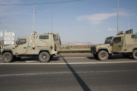 Yitma Junction, area of land confiscated for security fence. (Photo: Allison Deger)