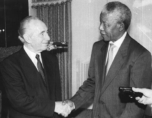 Peres and Mandela