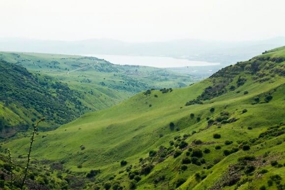 Photo of Golan Heights from El Al global facebook page