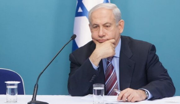 Netanyahu after he heard he'll have to fly coach. Jeez, some people . . .