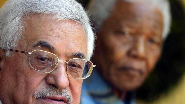 Mahmoud Abbas and Nelson Mandela in South Africa in 2006. (Photo: AFP/Fati Moalusi)