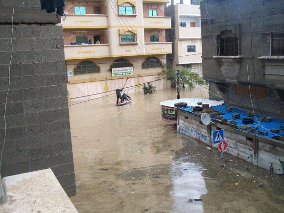 """The Manara district and street tunnel largely disappeared after the rain and floods inundated streets and houses in the area. """