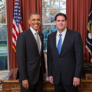 Obama and Dermer, in happier days