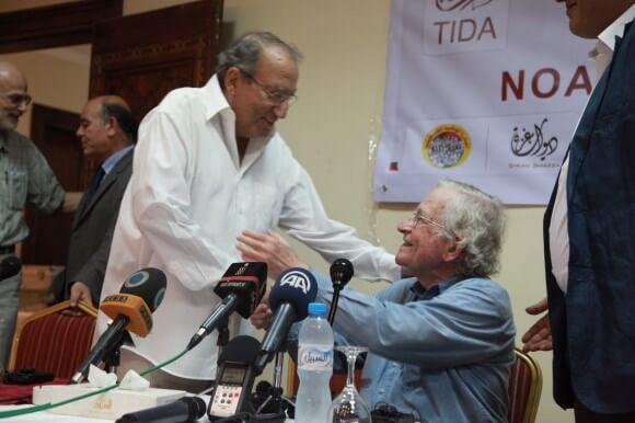 Dr. Eyad el Sarraj and Noam Chomsky