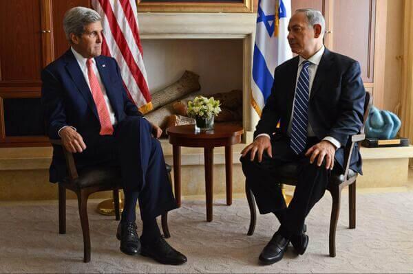 U.S. Secretary of State John Kerry and Israeli Prime Minister Benjamin Netanyahu, not happy.