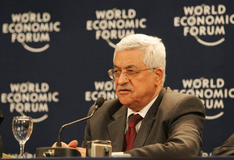 Mahmoud Abbas at the World Economic Forum in Switzerland. (Photo: World Economic Forum/Wikimedia Commons)