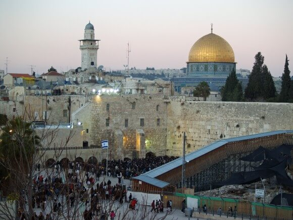 The Western Wall and Dome of the Rock in the Old City of Jerusalem. (Photo: David Shankbone/Wikimedia Commons)