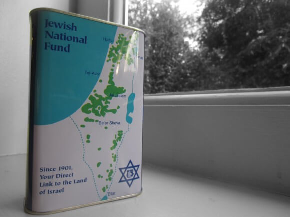 The Jewish National Fund blue box