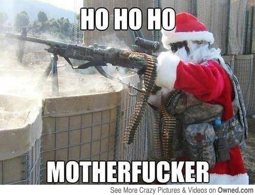 The war on Christmas gets real! (Apologies for the blue language and distinct lack of holiday spirit)