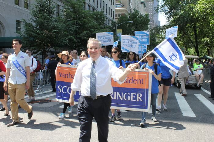 Scott Stringer at the 2013 Israeli Day Parade in NYC. (Photo: Roy Renna/BMR Breaking News for VINNEWS.com)