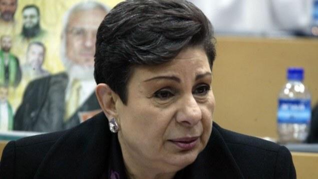 PLO official Hanan Ashrawi (photo credit: Ahmad Gharabli/Flash90 via The Times of Israel)