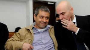 Doron Zahavi, a.k.a. Caption George, with his lawyer. (Photo: Israel Today)