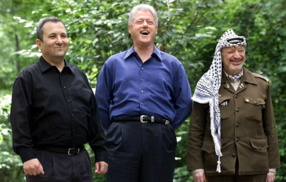 Barak, Clinton and Arafat at Camp David