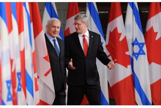 Benjamin Netanyahu and Stephen Harper. (Photo: SEAN KILPATRICK / THE CANADIAN PRESS)