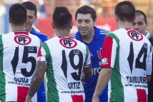 Palestino shirts with map replacing the number 1.