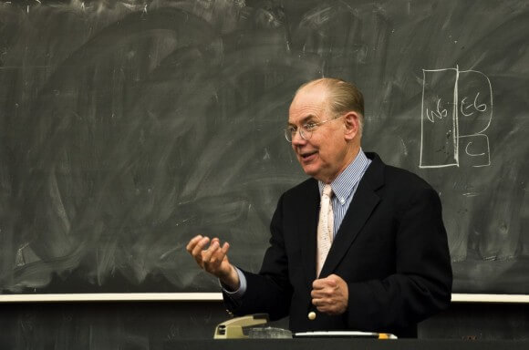 Mearsheimer, photo by Varsha Sundar in the Chicago Maroon
