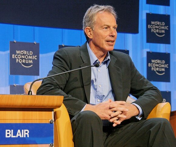 Former British Prime Minister Tony Blair at the World Economic Forum in 2008. (Photo: World Economic Forum/Wikimedia Commons)