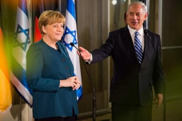 Merkel and Netanyahu yesterday