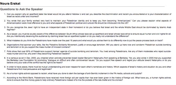 Screenshot of Stand4Facts' page on Noura Erakat.
