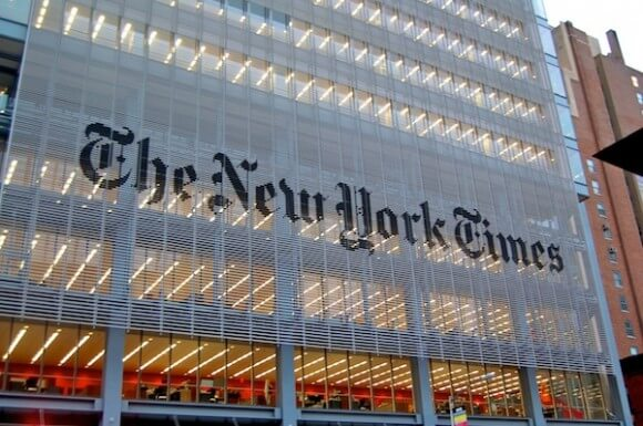 New York Times headquarters. (Photo: Wikipedia)