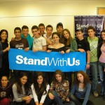 College students with a StandWithUs banner. (Photo: StandWithUs.com)