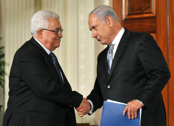 Abbas and Netanyahu in 2010.