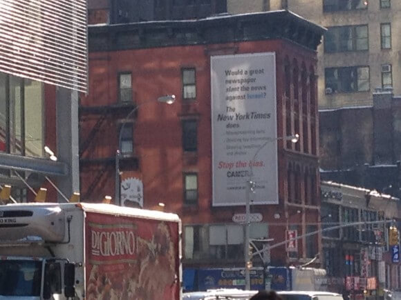 CAMERA ad across from the New York Times, by Hanna Pylvainen